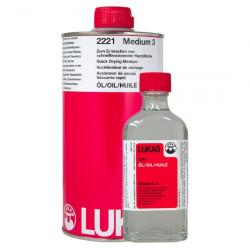 LUKAS - Médium 3 - Accélérateur de Séchage à Base de Résine - 2221 - 125ml & 1L