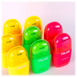 "MILAN - Taille-Crayon & Gomme - ""Fluo"""