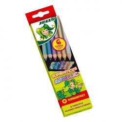 JOLLY - 6 SUPERSTICKS METALLIC - Crayons de Couleur Métallisés