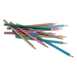 JOLLY - 12 SUPERSTICKS SPARKLING - Crayons de Couleur Métallisés