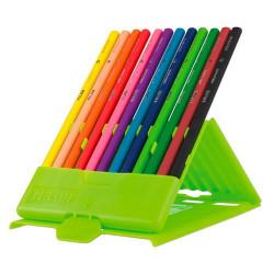 MILAN - FLEXIBOX de 12 Crayons de Couleur - Triangulaire Rubber