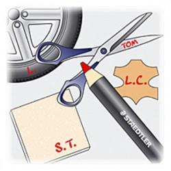 STAEDTLER - Lumocolor® - Permanent Glasochrom - Marqueur à Sec Permanent
