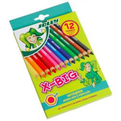 JOLLY - 12 SUPERSTICKS X-BIG - Crayons de Couleur