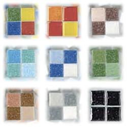 Efco - Mosaïque - MosaixPro - Cailloux de Verre - 10 x 10 x 4 mm - 302 Pièces
