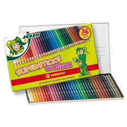 JOLLY - 36 SUPERSTICKS CLASSIC - Crayons de Couleur
