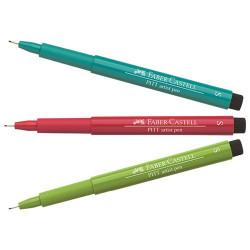 Faber-Castell - PITT® Artist Pen - Feutre à l'Encre de Chine pour Artistes - Pointe Super Fine (S)