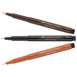 Faber-Castell - PITT® Artist Pen - Feutre à l'Encre de Chine pour Artistes - Pointe Fine (F)