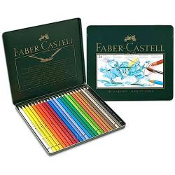 Faber-Castell - POLYCHROMOS® Artist Color Pencils - Boîte Métal - 24 Couleurs