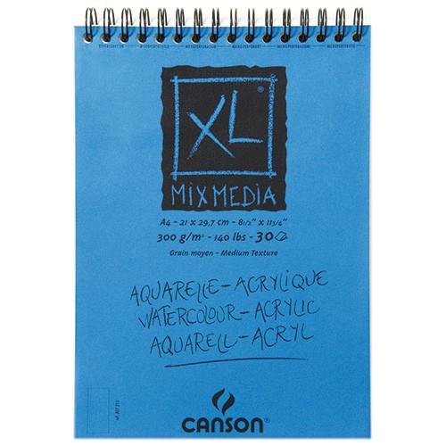 Canson® - XL® Mix Media - Spirals - Medium Texture - 300 gsm - A3 Size