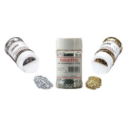 OZ International - Paillettes - Larges et Lumineuses - 60gr