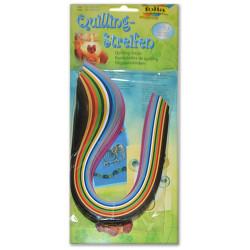 Bandelettes de Quilling - 14 Couleurs - 0.4mm & 0.8mm - 34.5cm - 280 Pièces