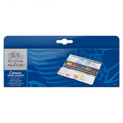 Winsor & Newton - Aquarelle Cotman - BLUE BOX - 12 Demi-Godets