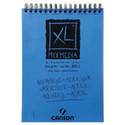 Canson® - XL® Mix Media - Spirales - Grain Moyen - 300 g/m² - Format A4