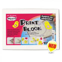 MEYCO - PRINT BLOCK - Bloc pour Sculpter & Impression - 210 x 150 x 5 mm