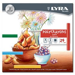 LYRA - POLYCRAYONS - Soft - Hi-Quality - Craie Pastel Tendre - 24 Pièces