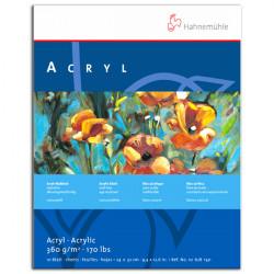 Hahnemühle - ACRYL - Bloc de Peinture Acrylique - Blanc Neige - 450 g/m²