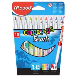 Maped - Feutres Pinceaux - Color'Peps Brush - Boîte de 10