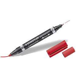 STAEDTLER - Lumocolor® - Permanent Duo 348 - Marqueur Permanent Double Pointe