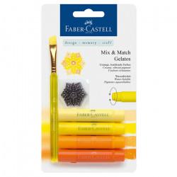 "Faber-Castell - Gelatos - Blister de 4 Craies Gelatos - Pack ""Jaune"""