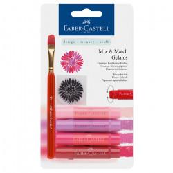 "Faber-Castell - Gelatos - Blister de 4 Craies Gelatos - Pack ""Rouge"""