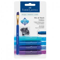 """Faber-Castell - Gelatos - Blister de 4 Craies Gelatos - Pack """"Bleu"""""""