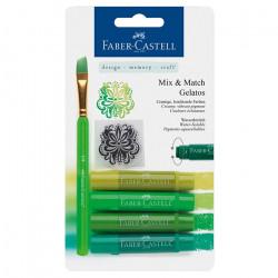 """Faber-Castell - Gelatos - Blister de 4 Craies Gelatos - Pack """"Vert"""""""