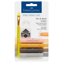 """Faber-Castell - Gelatos - Blister de 4 Craies Gelatos - Pack """"Terra"""""""