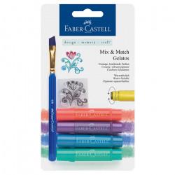 "Faber-Castell - Gelatos - Blister de 4 Craies Gelatos - Pack ""Metal"""