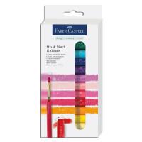 "Faber-Castell - Gelatos - Blister de 12 Craies Gelatos - Aquarellables - Pack ""12 Nuances"""