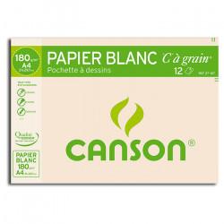"""Canson® - """"C"""" à Grain® (CAG) - Pochette de 12 Feuilles - 180 g/m² - Format A4"""