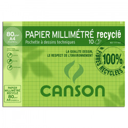 PCH CANSON 10F A4 RECY MM 80G
