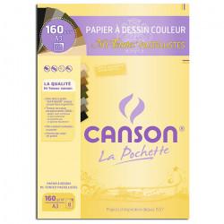 Canson® - Mi-Teintes® PASTELLISTES - Pochette de 8 Feuilles - 160 g/m² - Format A3