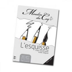 """Moulin du Coq - """"Bloc L'Esquisse"""" - Avec Spirales - 100 g/m² - Format A3"""