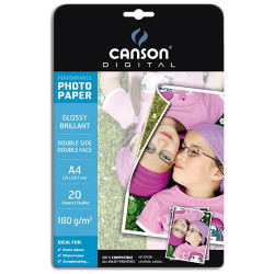 Canson® - Papier Photo - Digital Performance - A4 - 20 Feuilles - Brillant - 180 g/m²