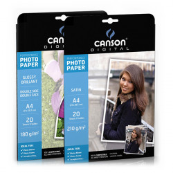 Canson® - Papier Photo - Digital Performance - A4 - 20 Feuilles - Satiné - 210 g/m²