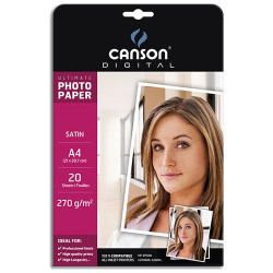 Canson® - Papier Photo - Digital Ultimate - A4 - 20 Feuilles - Satiné - 270 g/m²