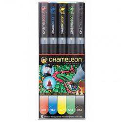 Chameleon Pens - Pack de 5 Couleurs - Tons Primaires