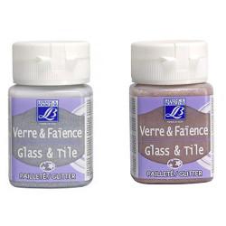 Lefranc & Bourgeois - Verre & Faïence - Glass & Tile - À Cuire - Pailletées - 50ml