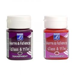 Lefranc & Bourgeois - Verre & Faïence - Glass & Tile - À Cuire - Transparentes - 50ml