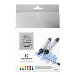 Winsor & Newton - Water Colour Markers - Marqueurs Aquarelle - Set de 12