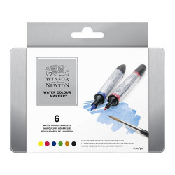 Winsor & Newton - Water Colour Markers - Marqueurs Aquarelle - Set de 6