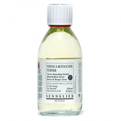 "SENNELIER - ""Turner"" Touch Up Varnish - Retouching Varnish - For Oil Colours - 250ml Jar"