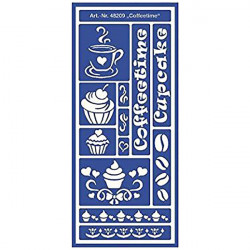 "C.KREUL - Home Design - Pochoir - Motif Stencil ""Coffee Time"" - 48209"