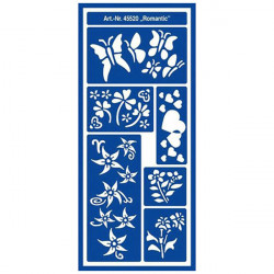 "C.KREUL - Home Design - Pochoir - Motif Stencil ""Romantic"" - 45520"