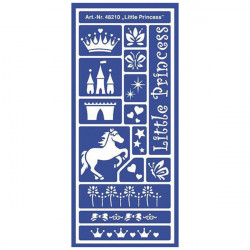 "C.KREUL - Home Design - Pochoir - Motif Stencil ""Little Princess"" - 48210"