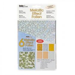 C.KREUL - Metallic Effect Foil Set - 6 Feuilles - A5 - Glamour