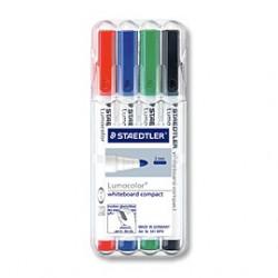 STAEDTLER - Lumocolor® - Marqueur pour Tableaux Blancs - 341 WP4 - STAEDTLER® Box