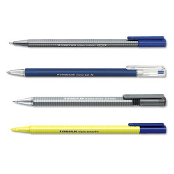 Be Mobile The Practical Staedtler Triplus Office Comprises 1x Fineliner Black Ink Ball Blue Micro Line Width