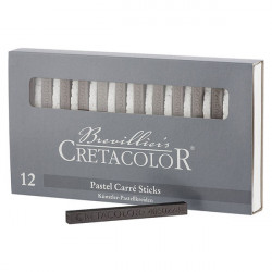 CRETACOLOR - 12 x Graphite Sticks - 7x7 mm