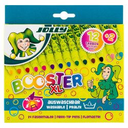 JOLLY - 12 Booster XL Fibre-Tip Pens - Lot de 14 Gros Feutres